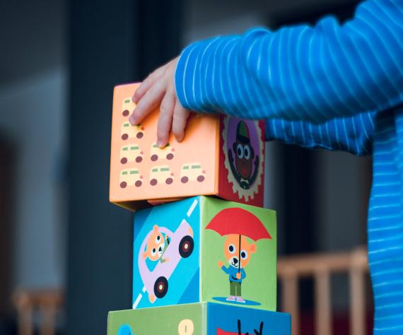 buidling blocks at nursery